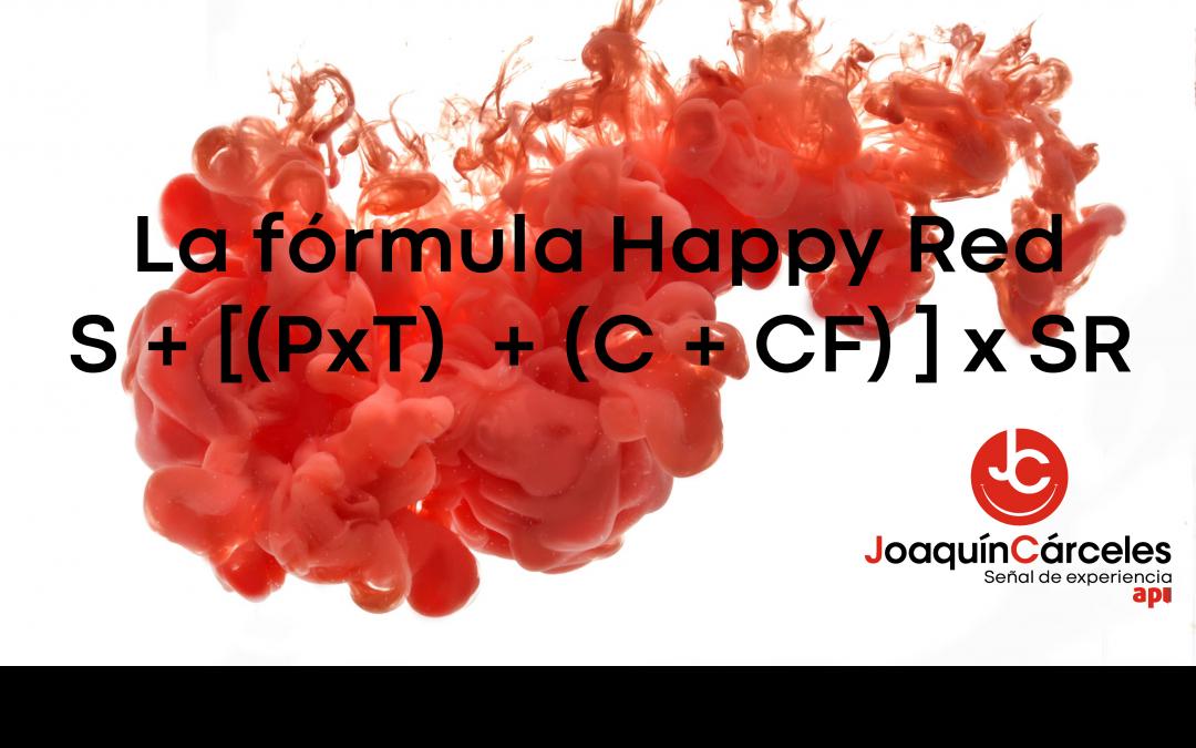 """La fórmula """"Happy Red"""" de Joaquín Cárceles:"""